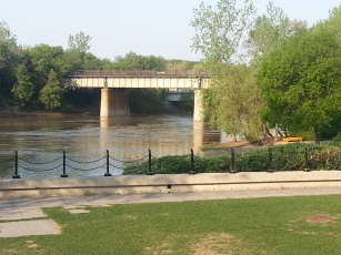 Assinaboine River at the Forks.jpg